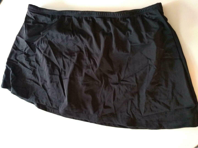 24th & Ocean Tummy Control Black Swim Shorts Size Large