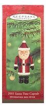 Hallmark Keepsake Ornament Santa Time Capsule 2001 - $9.78