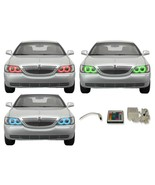 for Lincoln Town Car 05-11 RGB Multi Color IR LED Halo kit for Headlights - $137.91