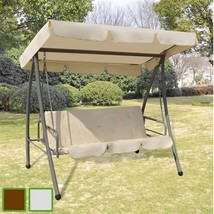 Patio Outdoor Canopy Swing Glider Hammock Seat Sofa/Bed w/ Roof Coffee/W... - $191.99+