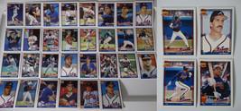 1991 Topps Atlanta Braves Team Set of 34 Baseball Cards With Traded - $9.95