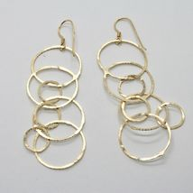 Drop Earrings 925 Silver Foil & Gold Circles by Mary Jane Ielpo Made in Italy image 7