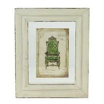 "Raz 7.25"" x 6"" Beige and Green Victorian Chair Print Framed Wall Art - $10.63"