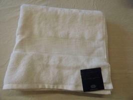 $33.00 Lauren Ralph Lauren Bowery Bath Towel, Nantucket White - $10.84