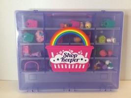 Shopkins 43 Piece Lot Hard To Find With Collectors Carry Case Storage Organizer - $37.04