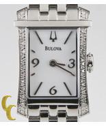 Bulova Woman's Stainless Steel Quartz Watch w/ White Dial & Diamond Beze... - $238.51
