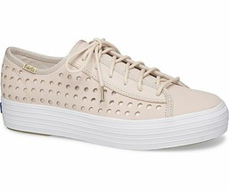 Keds WH59087 Women's Triple Kick Perf Leather Pink shoes, 5 Med - $49.45
