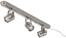 3 Light Track Lighting Kit Lithonia Lighting Brushed Halogen Nickel Halo... - $1.140,71 MXN