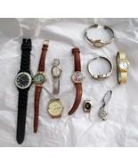 Wrist Watch Lot of 10 REPAIR RE-PURPOSE Not Running Citizen Tempi LA Exp... - $19.79