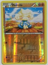 Meditite - 79/160 Reverse Holo Pokemon Card Light Play XY Primal Clash - $2.93