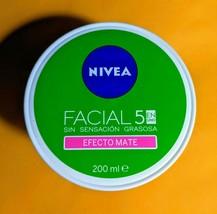 Nivea Facial 5en1 Cuidado Efecto Mate Crema † Matte Effect Cream † 200ml - $13.99
