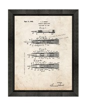 Automatic Center Punch Patent Print Old Look with Beveled Wood Frame - $24.95+