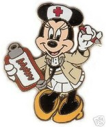 Disney Occupations Minnie Mouse Red Cross Nurse Stethoscope & Clipboard Pin - $29.39