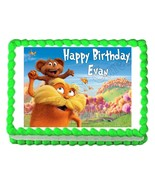 THE LORAX edible party cake topper decoration cake image frosting sheet - $7.80
