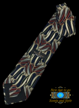 "New BILL BLASS BLACK LABEL SILK TIE Blue, Gold, Silver 54"" - $8.95"