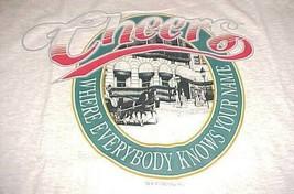Cheers Boston Restaurant Bar Gray Green Adult Unisex T-shirt 2XL New NWT - $19.79
