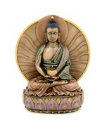 "BUDDHA STATUE 6"" Meditating Amitabha Bronze Resin HIGH QUALITY Buddhist ... - $39.95"