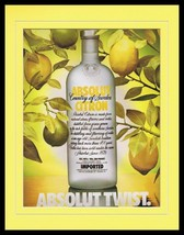 1990 Absolut Citron Vodka 11x14 Framed ORIGINAL Vintage Advertisement - $32.36
