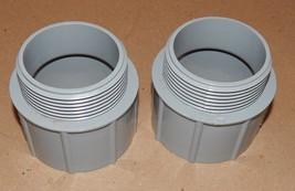 "Cantex 2-1/2"" PVC 2ea Male Adapters 2-7/8"" High 5140109 Conduit Fittings... - $9.49"