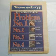 Sunday Newsday Long Island January 22 1993 Clinton Hussein Zoe Baird Pro... - $39.99