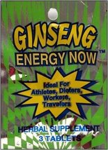 Energy Now - GINSENG ENERGY NOW MINI PACK 3 TABLETS - $23.01