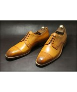 Handmade Men's Oxford Leather Shoes, Brogue Dress Shoes Formal Cap Toe S... - $149.99+