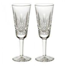Waterford Lismore Champagne Flute 4 oz Boxed Pair Brand New # 154040 - $134.64