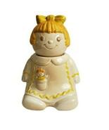 """Vintage Metlox Poppytrail Girl Cookie Jar 12"""" Yellow Gingerbread - $91.92"""