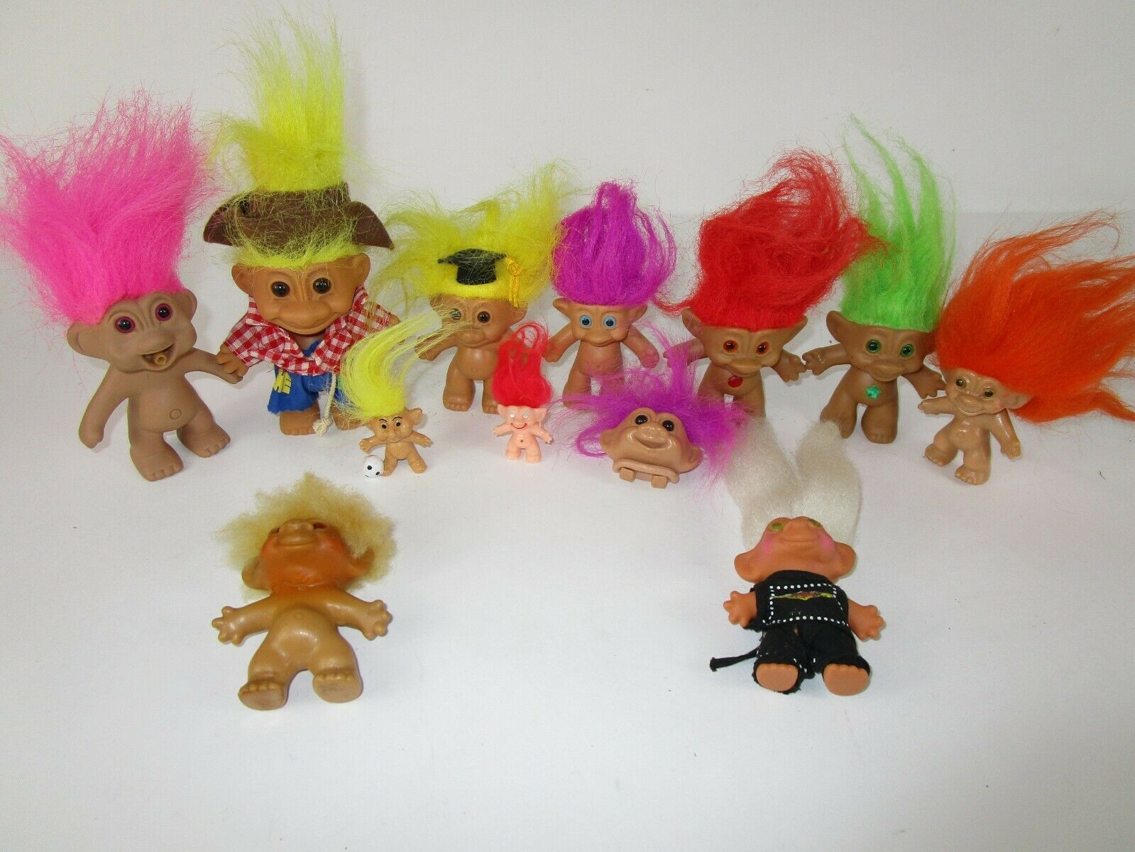 "Primary image for Lot of 12 Vintage Russ trolls Mini's 3"" & 5"" Russ Dam ACE Forest TN'T Pencil"
