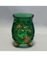 EAPG Croesus Pattern Emerald Green and Gold Spooner - $17.82