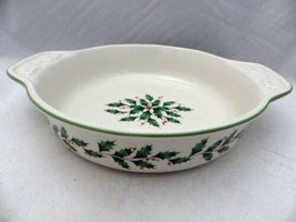 "Lenox Holiday - 9"" Round Baking dish, Holly & Berries - #869956, New in Box - $27.23"