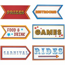 6 Pack Word Cutouts Signs Theme Party Decorations Kids Birthday Party 17... - $11.99