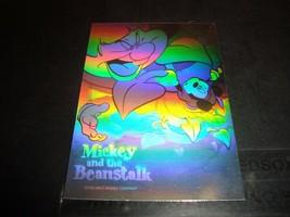 Walt Disney Mickey Mouse Dual Sided HOLOGRAM Mickey & The Beanstalk 1992... - $7.19