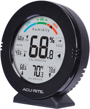 Humidity Gauge With Alarms Black & Accuracy Temperature Quickly Identify... - $19.96
