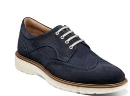 Florsheim Astor Wingtip Oxford Men's Shoes Casual Navy Suede 13339-415 - €92,29 EUR