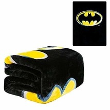 "JPI Flannel Fleece Plush Blanket - Batman Emblem - Queen Bed 79""x 95"" - ... - £30.01 GBP"