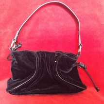 Liz Claiborne Chocolate Small Evening Brown Velour Handbag Purse - $11.30
