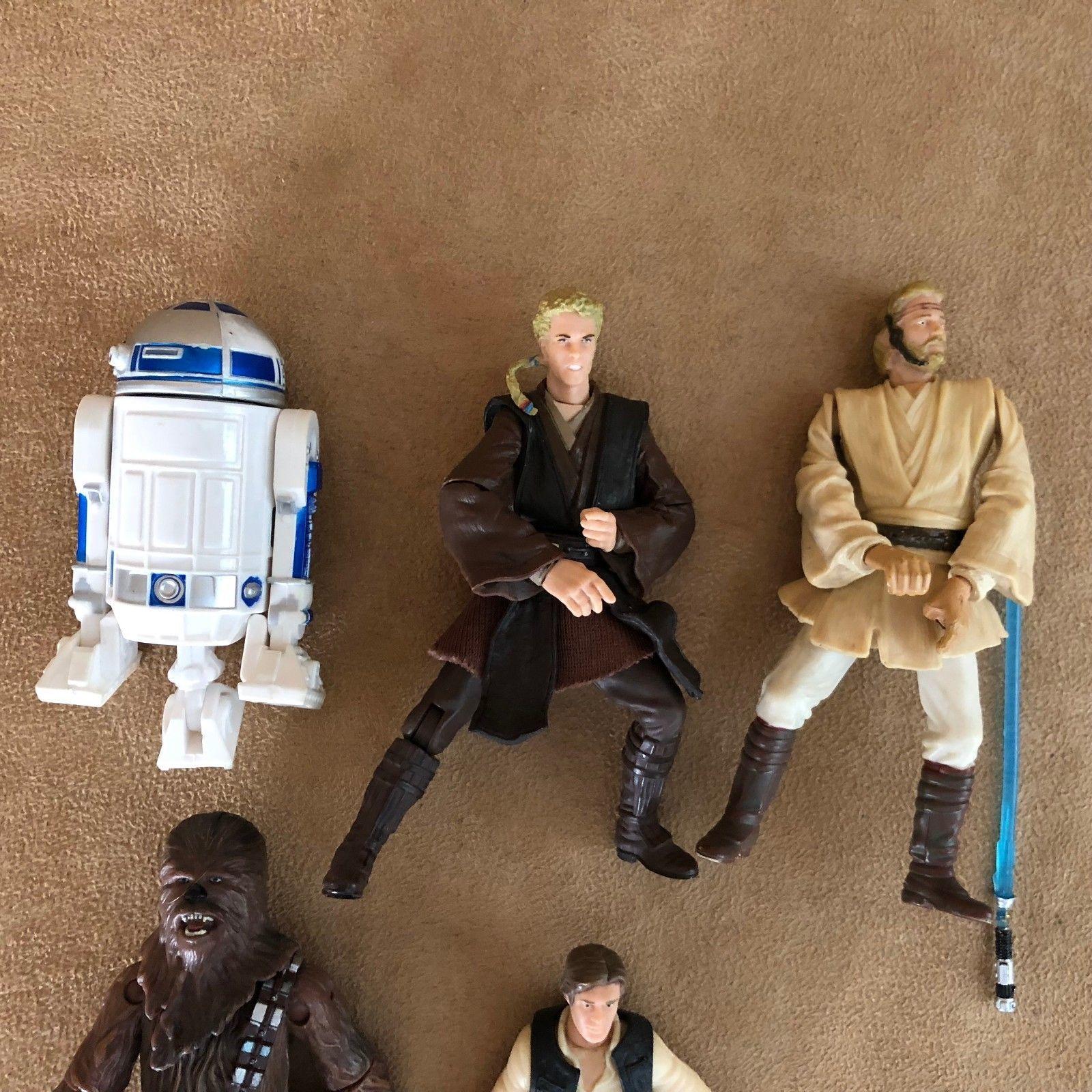 2001 Star Wars Hasbro action figure lot LFL R2D2 Han Solo Kenner