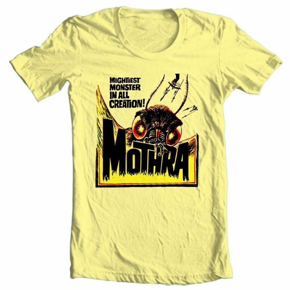 Mothra T-shirt retro sci fi monster movie Godzilla 100% cotton graphic tee