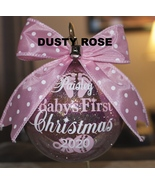 """Baby's First Christmas ornament, Glass 4"""" ornament, Personalized ornament - $20.00"""