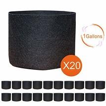 gardzen 20-Pack 1 Gallon Nonwoven Grow Bags, Aeration Fabric Pots - $17.55