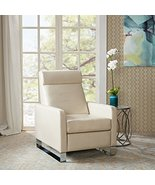 ModHaus Living Mid Century Modern Faux Leather Upholstered Recliner Sofa... - $412.78