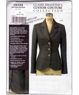 Vogue 8333 Custom Couture Jacket Semi-fitted lined Casual Dress Sewing P... - $20.00