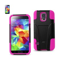 REIKO SAMSUNG GALAXY S5 HYBRID HEAVY DUTY CASE WITH KICKSTAND IN HOT PIN... - $7.32
