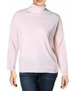 Karen Scott Womens Plus Luxsoft Turtleneck Pullover Sweater Pink 0X - $24.02