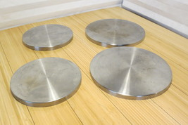 Set of 4 Stainless Steel Look Round Burner Covers Two 8in Two 10in Range... - $13.99