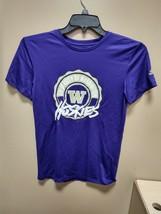 Adidas Washington Huskies Training Tee Womens Large Purple GP1227 - $14.25