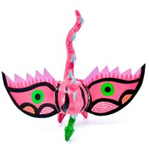 Handmade Alebrijes Oaxacan Wood Carved Folk Art Winged Dragon Bobble Head Figure image 6