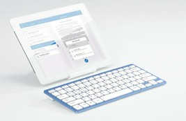 Actto Korean English Bluetooth Slim Keyboard Wireless Compact Tenkeyless (Blue) image 2
