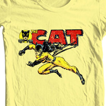 The Cat t shirt Tigra vintage retro 1970s Greer Grant Nelson female hero tee image 1